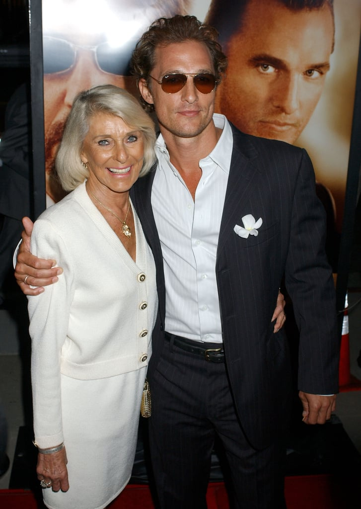 Matthew McConaughey posed for a photo with his mum, Kay, at the Two for the Money September 2005 premiere.