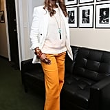 """Iman at the Glamour """"Secrets of Start-Up Queens"""" panel in New York City."""
