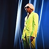As his alter ego Igor, Tyler often wears a blond wig and neon-colored suits.
