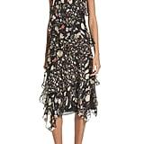GREY Jason Wu Painterly Floral Print Silk Blend Dress