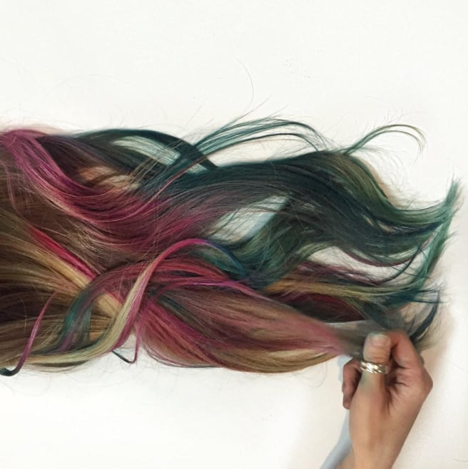 Book Cover Watercolor Hair : Fluid hair painting trend popsugar beauty