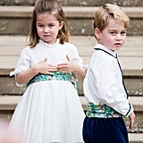When He Was a Page Boy at Princess Eugenie's Wedding