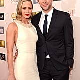 Emily Blunt and husband John Krasinski posed together on the red carpet.