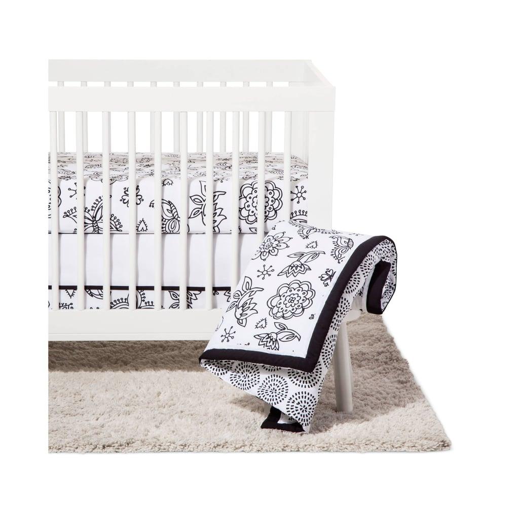 NoJo Crib Floral Bedding Set