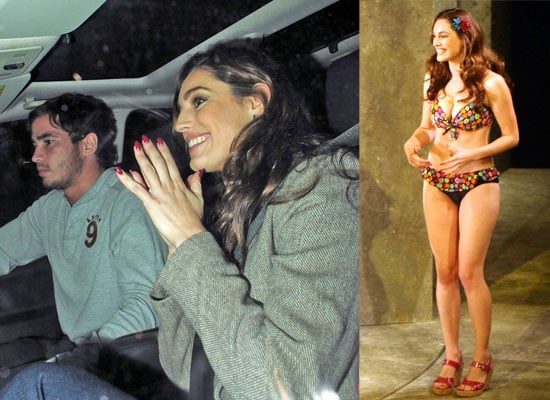 Photos Of Kelly Brook In A Bikini During Her West End Debut In The Play Fat Pig, Leaving With Danny Cipriani