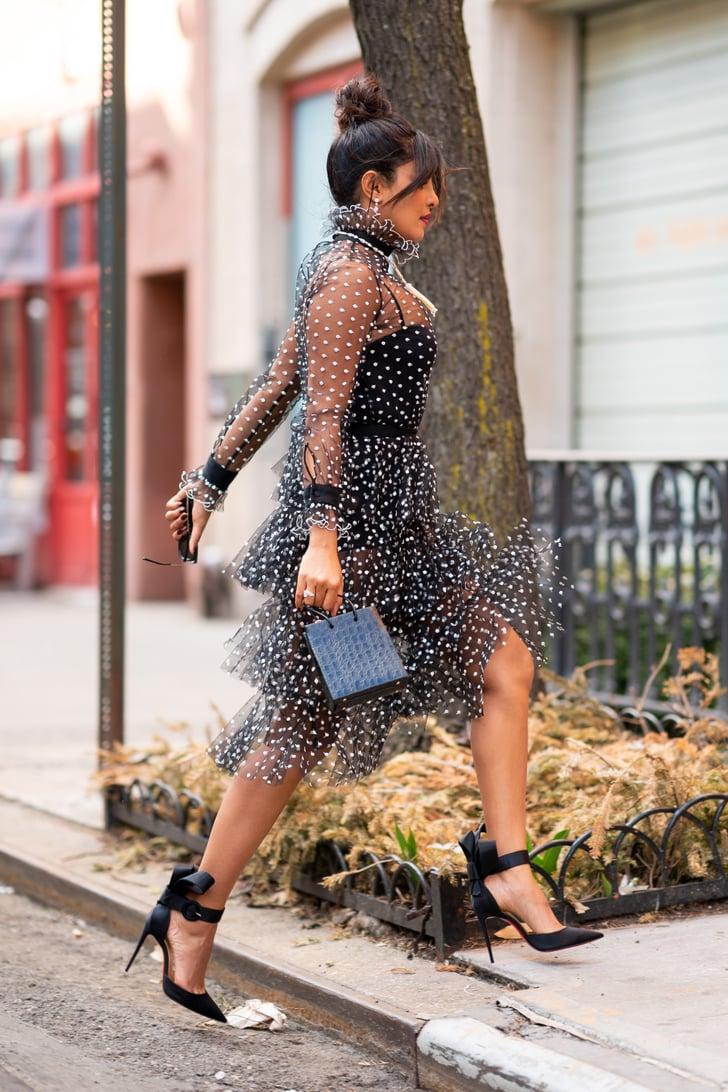 Priyanka Chopras Sheer Polka-Dot Dress  Popsugar Fashion Photo 12-4280