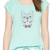 Pajama Drama Women's Bow Tie Dog Tee/Short PJ Set ($19)