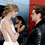 Taylor Swift and Zac Efron shared a moment prior to the film's premiere.