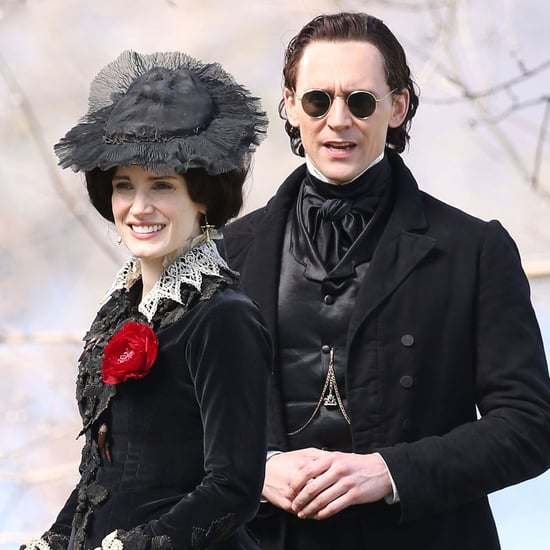 Tom Hiddleston and Jessica Chastain on Set