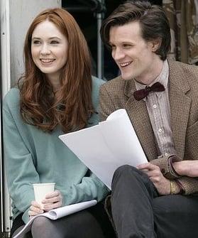 New Doctor Who Matt Smith And Assistant Karen Gillan