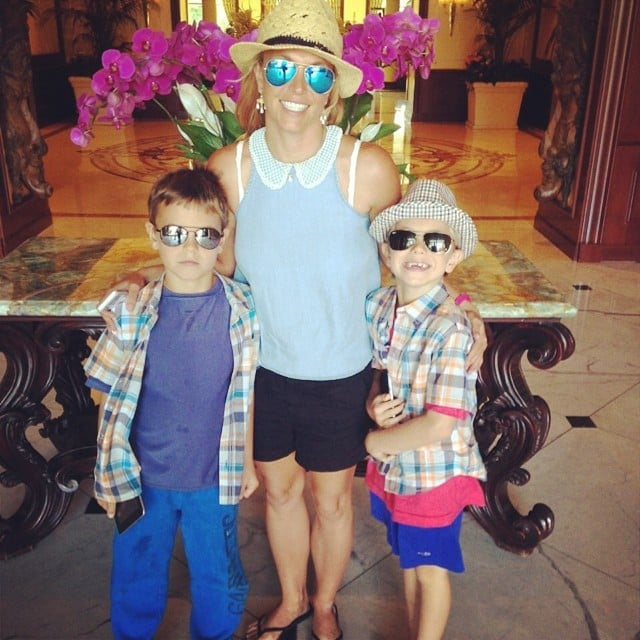 Britney took a photo while grabbing brunch with her sons, Jayden and Sean Federline, on Friday.  Source: Instagram user britneyspears