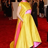 Prabal Gurung Taroni Double-Faced Satin Cape ($15,195), and Gown ($12,495) worn by Elettra Wiedemann