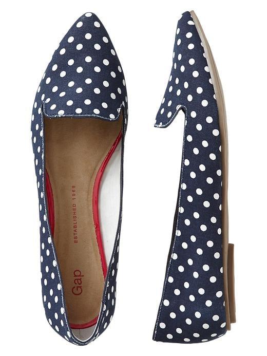 Gap Navy-and-White Polka-Dot Pointy-Toe Flats