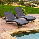 Berkeley Outdoor Brown Wicker Adjustable Chaise Lounge Chair
