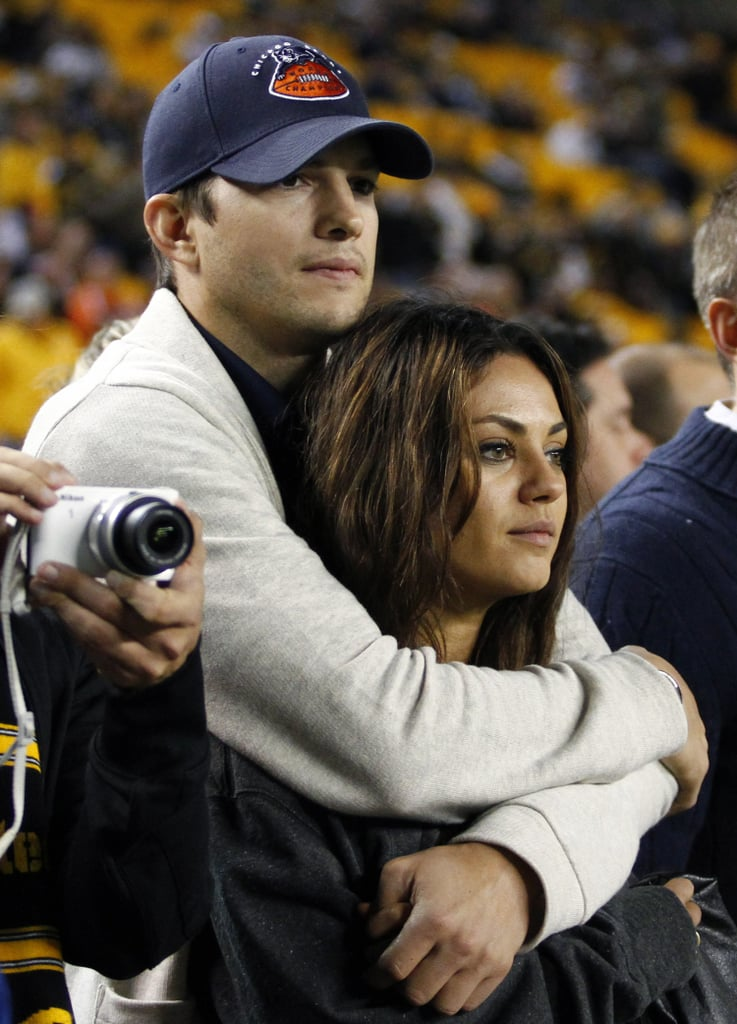 The couple got cozy on the sidelines at a football game in Pittsburgh in September 2013.