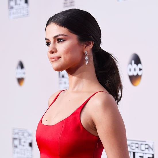 Selena Gomez Red Dress at American Music Awards 2016