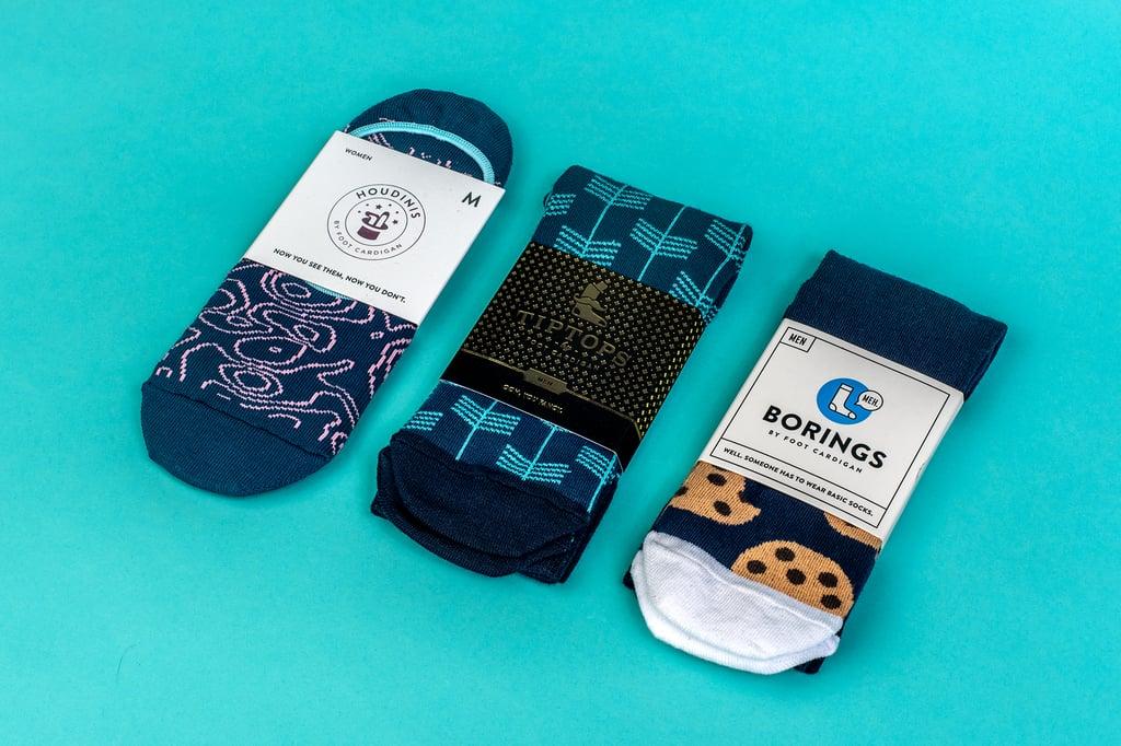 Foot Cardigan Sock Subscription ($9-$15 per month)