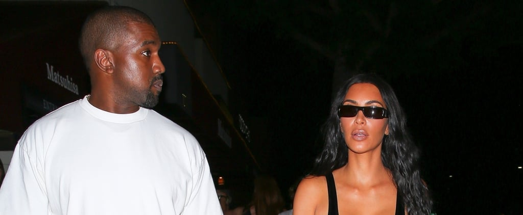 Kim Kardashian Black Latex Outfit on Date With Kanye West