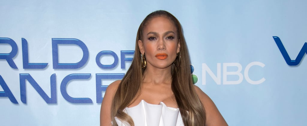 Jennifer Lopez White Ruffled Dress