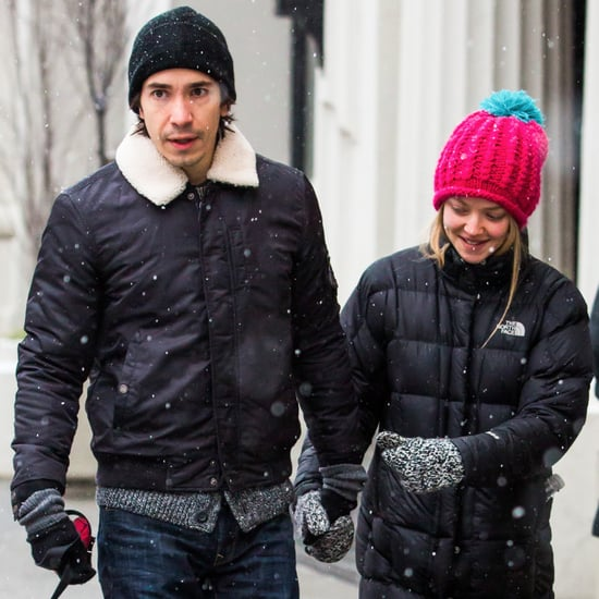 Amanda Seyfried and Justin Long Walking in the Snow