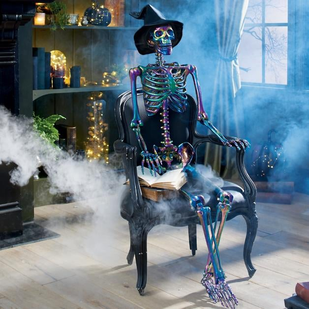 Grandin Road 5-Foot-Tall Iridescent Halloween Skeleton