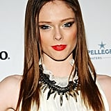 Coco Rocha sported bright lipstick to the Grand Chefs Dinner in NYC.