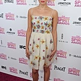Aubrey Plaza on the red carpet at the Spirit Awards 2013.