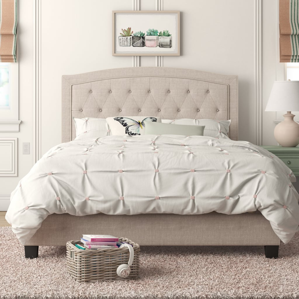 Pascal Tufted Upholstered Low Profile Standard Bed