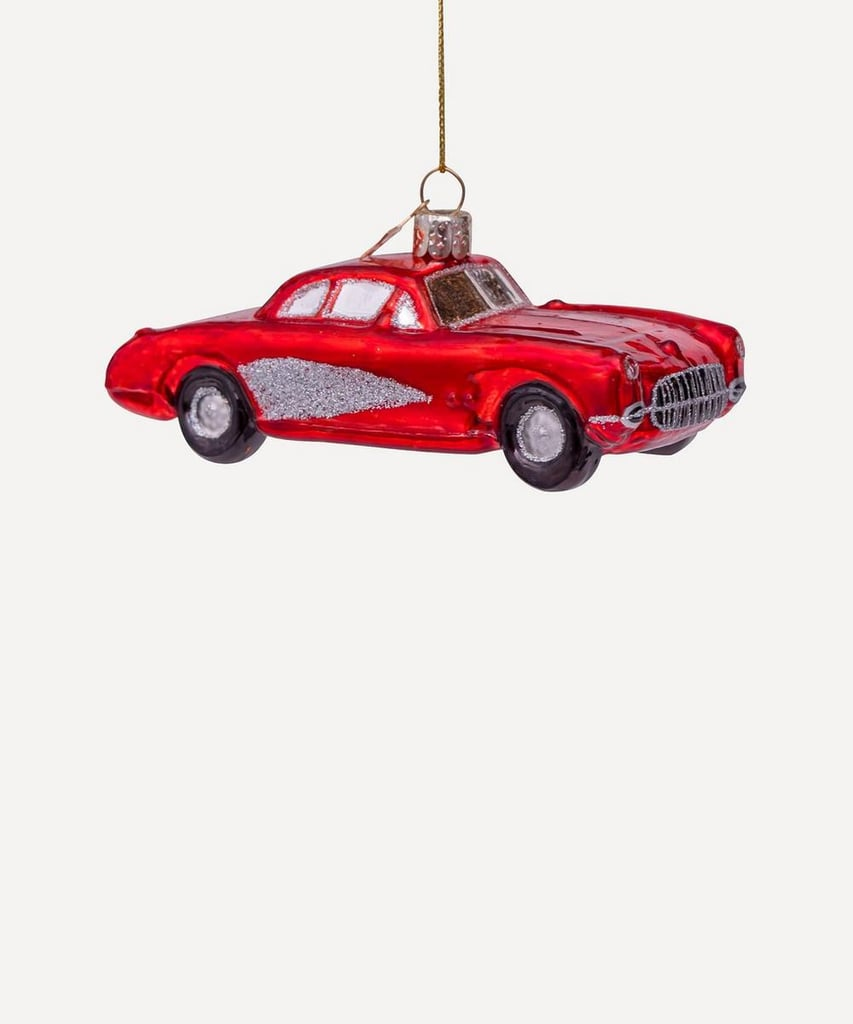 Liberty London Red Car Glass Tree Decoration