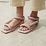 Nanushka Yola Puffed Sandal in Rose