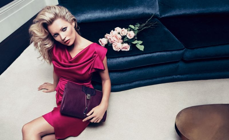 Kate Moss plays the ultimate vixen in hot pinks and fuchsia for Liu Jo.