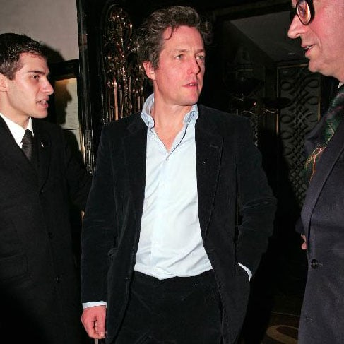 Hugh Grant Leaving Scott's with Jemima Khan