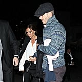 David Beckham and Victoria Beckham went out in LA.