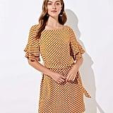 Loft Petal Dot Bell Cuff Dress