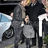 David Beckham carried his bag in London.
