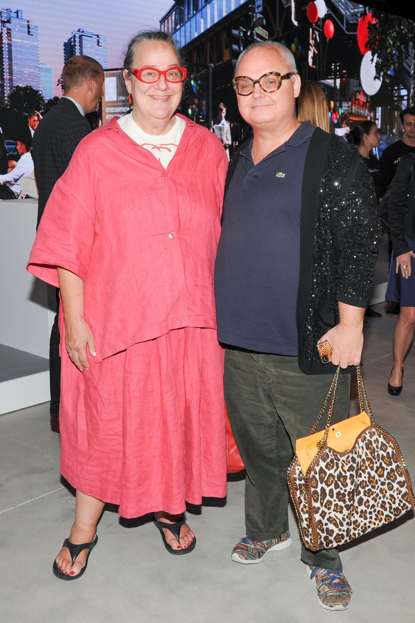 Paper magazine editors Kim Hastreiter and Mickey Boardman joined in on the fun.