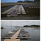 The docks at Folsom Lake Marina in El Dorado Hills, CA.