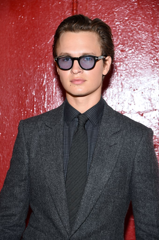 Ansel Elgort at Tom Ford Spring 2020