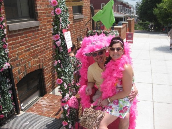 """This is me and my dad at a Baltimore event called Hon Fest.  Basically, everyone dresses up in ridiculous pink and leopard print outfits and eats crab cakes. My dad was a great sport and let me dress him up in a hot pink feather boa and leopard print hat for this picture, even though he thought the whole thing was ridiculous. He's my favorite person in the world."" — Christina Sheffey, PopSugarTV"