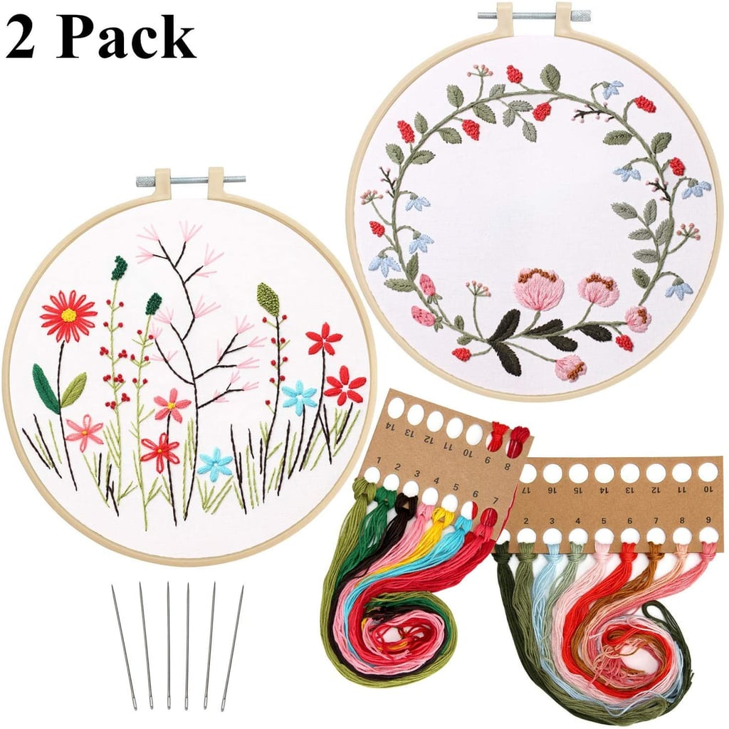 2-Pack Embroidery Kit with Pattern