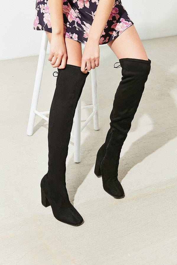 Urban Outfitters Samantha Faux Suede Thigh-High Boot