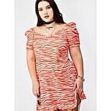 Dolls Kill Plus Zebra Puff Sleeve Mini Dress