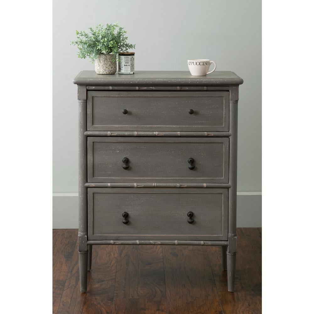 East At Main's Langston Grey Mahogany Nightstand ($420)