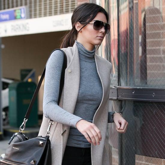 Kendall Jenner Wearing a Long Vest