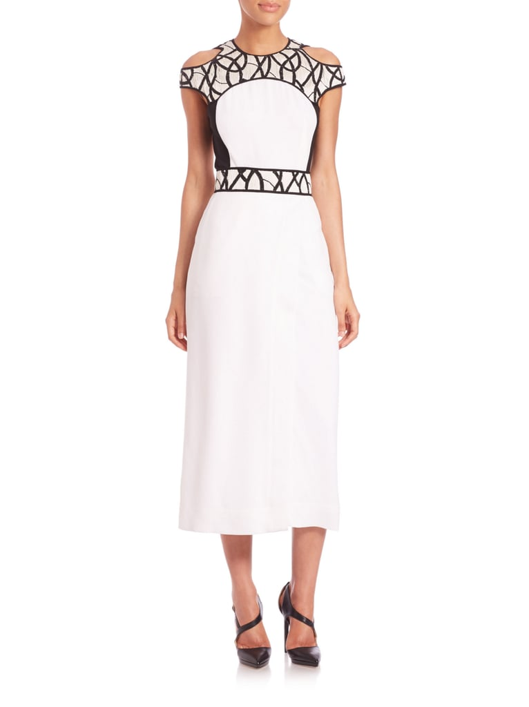 Yigal Azrouel Embroidered Intertwined Vines Silk Dress ($1,790)