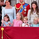 Princess Charlotte, Savannah Phillips, Prince George, and Isla Phillips