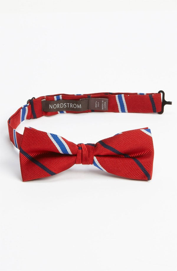 He'll look charmingly cute wearing Nordstrom's silk bow tie ($23) for boys.