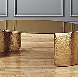 Cuff Hammered Gold Coffee Table ($549)
