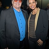 Alicia Keys posed with Jack Nicholson.