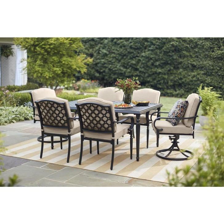 Hampton Bay Laurel Oaks 7-Piece Outdoor Dining Set | Best ...
